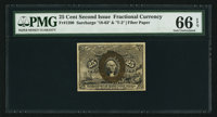 Fr. 1290 25¢ Second Issue PMG Gem Uncirculated 66 EPQ