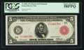 Fr. 836b $5 1914 Red Seal Federal Reserve Note PCGS Choice About New 58PPQ