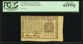 Colonial Notes:New York, New York August 13, 1776 $1/16 PCGS Choice New 63PPQ.. ...