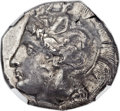 Ancients:Greek, Ancients: LUCANIA. Thurium. Ca. 400-350 BC. AR distater (26mm,15.91 gm, 3h)....