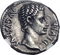 Ancients:Roman Imperial, Ancients: Augustus (27 BC-AD 14). AR denarius (19mm, 3.81 gm,7h)....