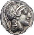 Ancients:Greek, Ancients: ATTICA. Athens. Ca. 454-414 BC. AR tetradrachm (25mm,17.17 gm, 7h)....