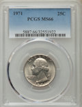 Washington Quarters, 1971 25C MS66 PCGS. PCGS Population (67/3). NGC Census: (41/3). Mintage: 109,284,000. Numismedia Wsl. Price for problem fre...