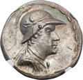 Ancients:Greek, Ancients: GRECO-BACTRIAN KINGDOM. Eucratides I the Great (ca.170-145 BC). AR tetradrachm (33mm, 16.96 gm, 11h)....