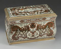 Decorative Arts, French, A French Boulle Cigar Box, 19th century. 6-1/4 inches high x 10-1/8inches wide x 6 inches deep (15.9 x 25.7 x 15.2 cm). ...