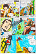 Original Comic Art:Miscellaneous, Amazing Spider-Man #121 Page 8 Hand-Painted Color Guide Signed by John Romita Sr. (Marvel, 1973)....