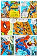 Original Comic Art:Miscellaneous, Amazing Spider-Man #121 Page 12 Hand-Painted Color GuideSigned by John Romita Sr. (Marvel, 1973)....