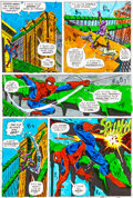 Original Comic Art:Miscellaneous, Amazing Spider-Man #121 Page 14 Hand-Painted Color GuideSigned by John Romita Sr. (Marvel, 1973)....