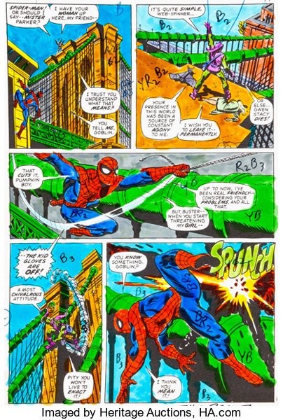 Amazing Spider-Man #121 Page 14 Hand-Painted Color Guide