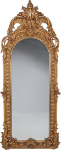 Decorative Arts, French:Other , A French Giltwood Pier Mirror Frame, 19th century. 87 inches high x34 inches wide (221.0 x 86.4 cm). PROPERTY FROM THE ES...
