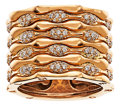 Estate Jewelry:Rings, Diamond, Pink Gold Ring, Palmiero. ...