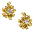 Estate Jewelry:Earrings, Diamond, Gold Earrings, Cartier. ...