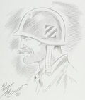 Original Comic Art:Sketches, Joe Sinnott Sgt. Fury Sketch Original Art (1986)....