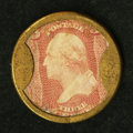 Encased Postage: , HB-18 EP-33 3¢ Take Ayers Pills Extremely Fine. . ...