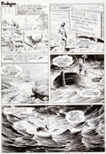 "Original Comic Art:Panel Pages, Bernie Wrightson Eerie #58 ""Pepper Lake Monster"" Page 23 OriginalArt (Warren, 1974)...."