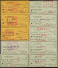 Baseball Collectibles:Others, 1971-78 Edd Roush Signed Checks Lot of 10....