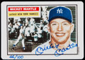 """Baseball Cards:Singles (1970-Now), Signed 1992 R&N China 1956 Topps #135 Mickey Mantle Porcelain Card Reprint, Numbered """"46/100.""""..."""