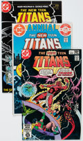 Modern Age (1980-Present):Superhero, New Teen Titans Short Boxes Lot (DC, 1980s-90s) Condition: AverageNM-.... (Total: 4 Box Lots)