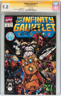 Modern Age (1980-Present):Superhero, The Infinity Gauntlet #1 Signature Series (Marvel, 1991) CGC NM/MT9.8 White pages....