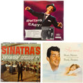 Music Memorabilia:Recordings, Frank Sinatra and Dean Martin Sealed Vintage LP Group of 3(Capitol, 1955-61).. ...