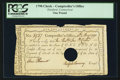 Colonial Notes:Connecticut, Connecticut Interest Certificate £1 May 10, 1790 Anderson CT-49. ....