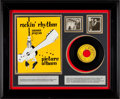 """Music Memorabilia:Autographs and Signed Items, Johnny Cash Signed Sun 45 Record """"So Doggone Lonesome / FolsomPrison Blues"""" (Sun 232, 1955) in Framed Display with Vintage To..."""