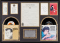 Music Memorabilia:Autographs and Signed Items, Bobby Darin Handwritten Love Letter to Connie Francis from the DickClark Collection, in Framed Display with Original 45...