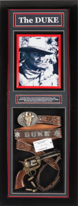 Movie/TV Memorabilia:Memorabilia, A John Wayne Personally-Owned Belt, 1978....