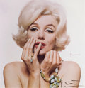 Movie/TV Memorabilia:Photos, A Marilyn Monroe Color Photograph Signed by Bert Stern, 1962, 1980s....