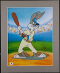 Baseball Collectibles:Others, Yogi Berra Signed Bugs Bunny Serigraph Cel....