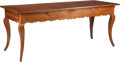 Furniture , A French Provincial Pine Farm Table with Extending Leaf and Drawer. 30 x 73-1/4 x 29-7/8 inches (76.2 x 186.1 x 75.9 cm). ...