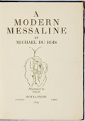 Books:Literature Pre-1900, Michael du Bois. LIMITED. A Modern Messaline. London: Royal Press, 1899....