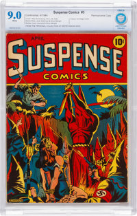 Suspense Comics #3 Pennsylvania pedigree (Continental Magazines, 1944) CBCS VF/NM 9.0 White pages