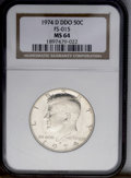 Kennedy Half Dollars: , 1974-D 50C Double Die Obverse MS64 NGC. FS-015. NGC Census:(80/112). PCGS Population (38/227). Mintage: 79,066,304. Numism...