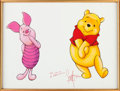 Animation Art:Production Drawing, Scott Westmoreland Winnie the Pooh and Piglet Illustration(Disney, 2000).. ...