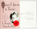 Books:Biography & Memoir, Gloria Vanderbilt. SIGNED. Once Upon a Time. New York:Alfred A. Knopf, 1985....