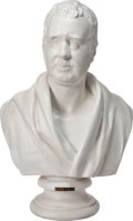 General Americana, Marble Bust of Charles James Fox, 19th century. Marks: Illegible.27 x 17 x 9 inches (68.6 x 43.2 x 22.9 cm). Elton Hyder ...