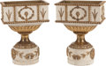 Decorative Arts, French, A Pair of French Directoire Painted and Parcel Gilt StandingJardinière with Liners, circa 1820 . 31 x 23 x 13 inches (78.7 ...(Total: 2 Items)
