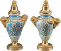 Ceramics & Porcelain, A Pair of French Sèvres-Style Porcelain Vases with Bronze Mounts, late 19th century. 11-1/2 inches high (29.2 cm). ... (Total: 2 Items)