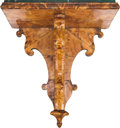 Decorative Arts, British:Other , An English Regency Tortoiseshell Veneered Bracket Shelf with FauxMarble Top, early 19th century. 19 inches high x 17-1/2 in...