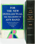 Books:Philosophy, Ayn Rand. SIGNED. For the New Intellectual: The Philosophy ofAyn Rand. New York: Random House, [1961]....