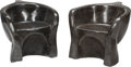 Furniture , A Pair of Art Moderne Black Marble Face Chairs, 20th century. 27-1/2 inches high x 30 inches wide x 27 inches deep (69.9 x 7... (Total: 2 Items)