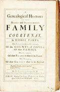Books:World History, E. Cleaveland. A Genealogical History of the Noble and Illustrious Family of Courtenay. In Three Parts. Exon: Pr...