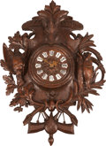 Timepieces:Clocks, A Black Forest Figural Clock with Boar and Pheasant Motif, late 19th century. 33 inches high (83.8 cm). ...