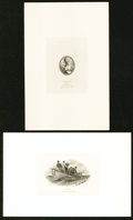 Canadian Currency: , Portrait and Vignette Cards of Engravings Used on Dominion ofCanada Notes.. ... (Total: 6 items)