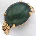 Estate Jewelry:Rings, Jade, Gold Ring. ...