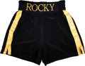"Movie/TV Memorabilia:Costumes, A Pair of Boxing Trunks from ""Rocky Balboa"" (aka ""Rocky VI."")..."