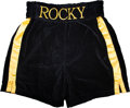 "Movie/TV Memorabilia:Costumes, A Pair of Boxing Trunks from ""Rocky Balboa"" (aka ""Rocky VI"")..."