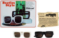"Music Memorabilia:Memorabilia, Two Pairs Of Rare ""Beatles Style"" Sunglasses By Filtral (Germany,1966).... (Total: 2 Items)"