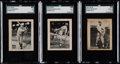 Baseball Cards:Lots, 1933 W574 Baseball Hand Cut Collection Trio (3)....